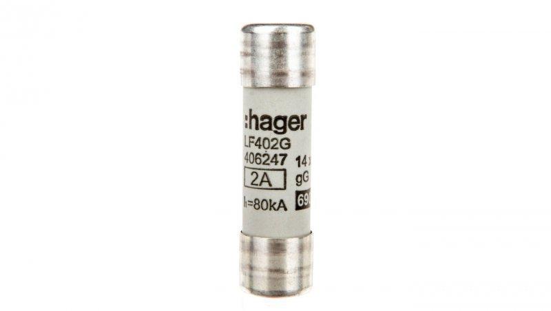 Wkładka bezpiecznikowa BiWtz cylindryczna 14x51mm 2A gG LF402G