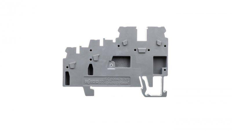 Złączka szynowa 3-przewodowa do czujnikow szara 270-560