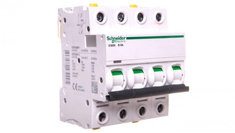 Wyłącznik nadprądowy 4P B 6A 6kA AC iC60N-B6-4 A9F03406