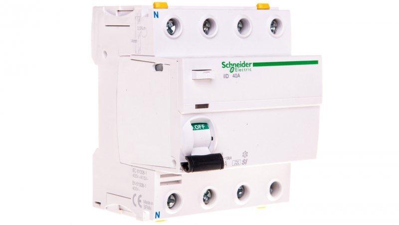 Wyłącznik różnicowoprądowy 4P 40A 0,03A typ SI iID A9Z31440