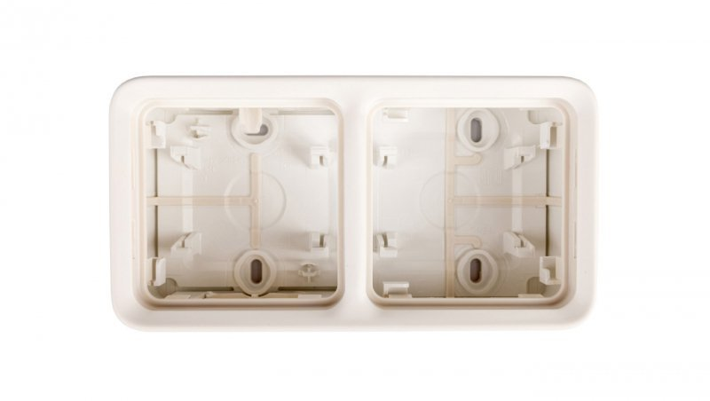 PLEXO55 Puszka natynkowa podwójna pozioma biała 069690