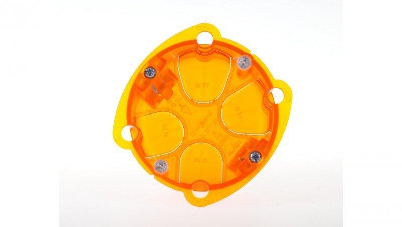 Puszka 67mm do betonu 72mm 72x 40mm pomarańczowa Batibox 080101