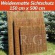 Weidenmatte Sichtschutz Rollzaun 150 cm x 500 cm