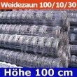 Wildzaun Forstzaun Weidezaun 100/10/30 50 Meter