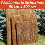 Weidenmatte Sichtschutz Rollzaun 90 cm x 500 cm