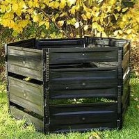 Komposter 700 L schwarz