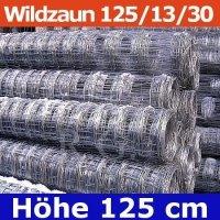 Wildzaun Forstzaun Weidezaun 125/13/30 50 Meter