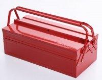 Werkzeugkoffer Werkzeugkasten Stahlblech 530mm 3 Fächer rot