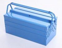 Werkzeugkoffer Werkzeugkasten Stahlblech 430mm 5 Fächer blau