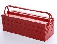 Werkzeugkoffer Werkzeugkasten Stahlblech 430mm 5 Fächer rot