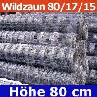 Wildzaun Forstzaun Weidezaun 80/17/15 50 Meter