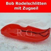 Bob Schlitten Race mit Zugseil in rot