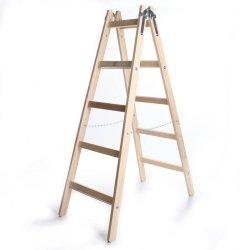Leiter Holzleiter Klappleiter Haushaltsleiter 5 Stufen Premium