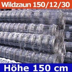 Wildzaun Forstzaun Weidezaun 150/12/30 50 Meter
