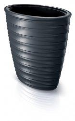 Blumenkübel Freze Oval Welle Design 3D Effekt 58cm Anthrazit