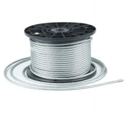 40m Stahlseil Drahtseil galvanisch verzinkt Seil Draht 2mm 1x19