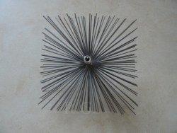 Schornsteinbesen Quadrat Kaminbesen aus Stahl 26 x 26cm