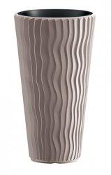Blumentopf Pflanzkübel 3D Effect Sandy Slim 350 mocca
