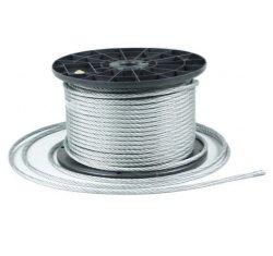 40m Stahlseil Drahtseil galvanisch verzinkt Seil Draht 5mm 6x7