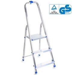 Leiter Aluleiter Einseitige Klappleiter 3 Stufen