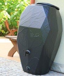 Regentonne Regenwassertonne Regenbehälter 300L Anthrazit