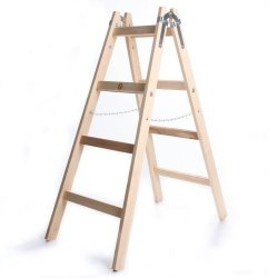Leiter Holzleiter Klappleiter Haushaltsleiter 4 Stufen Premium