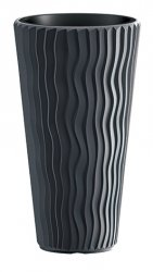 Blumentopf Pflanzkübel 3D Effect Sandy Slim 350 anthrazit