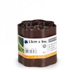 Rasenkante 15cm x 9m in braun