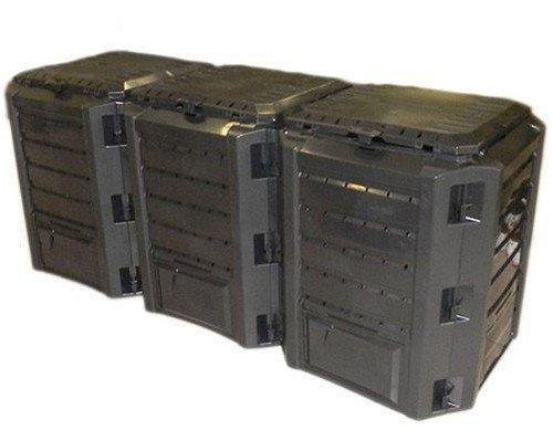 Komposter Kompostbehälter Thermokomposter 1200 L schwarz