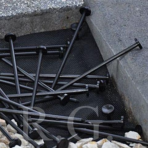 100 Erdanker Bodenanker für Unkrautvlies Gartenfolie 12,50 cm