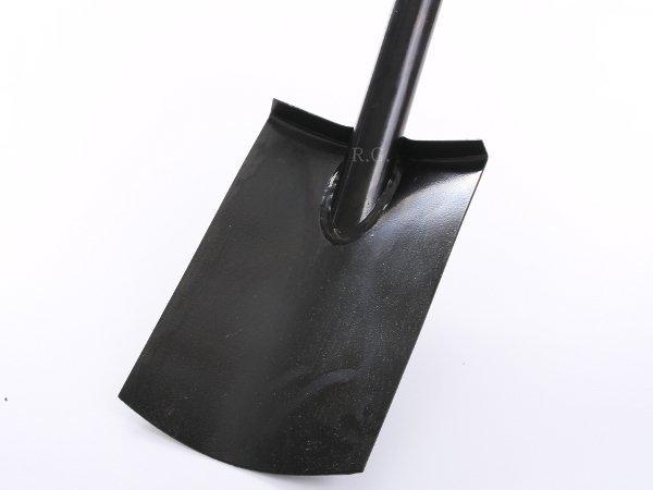 Spaten Gartenspaten Pionierspaten Schaufel aus Stahl schwarz