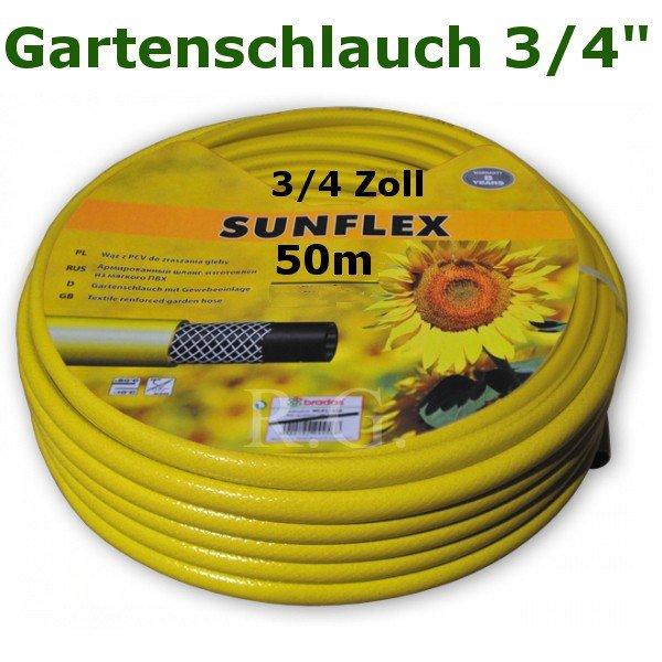 """Gartenschlauch Sunflex 3/4"""" 50 Meter Lang"""