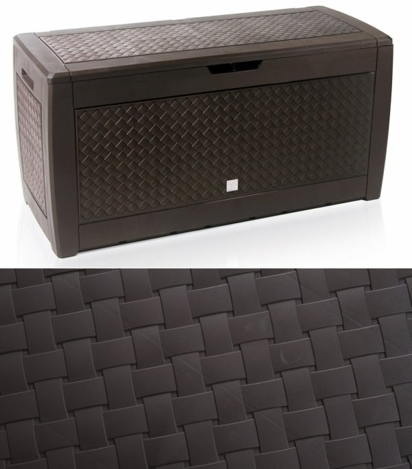 Gartenbox Auflagenbox Truhe Box Geflecht-Umbra