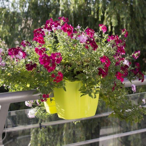 Blumenkasten Balkonkasten crown 240 weiß