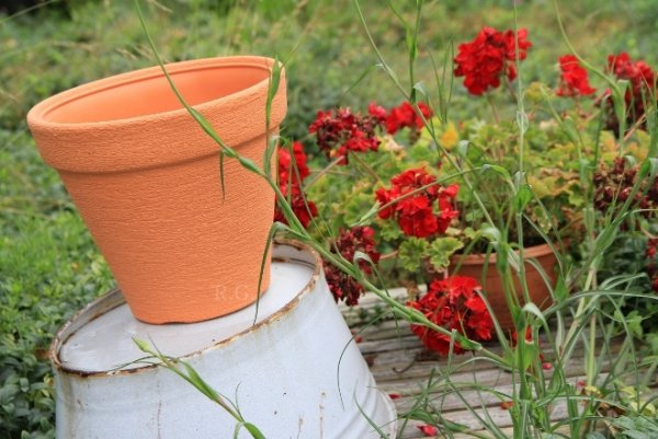Blumentopf Pflanztopf Massiv classic 40 anthrazit