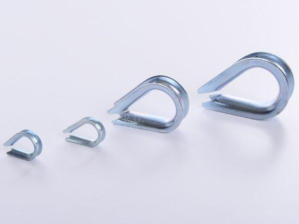 10x Kauschen Kausche für Stahlseil 3 mm
