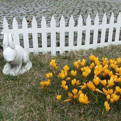 Gartenzaun Zierzaun 3,20m weiß