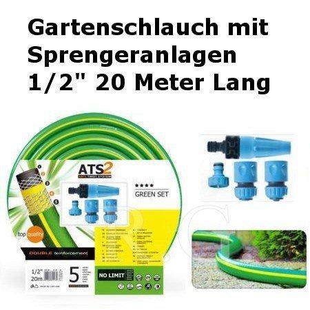 """Gartenschlauch Green mit Sprengeranlagen 1/2"""" 20 Meter Lang"""