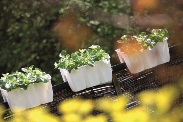 Blumenkasten Balkonkasten crown 400 weiß