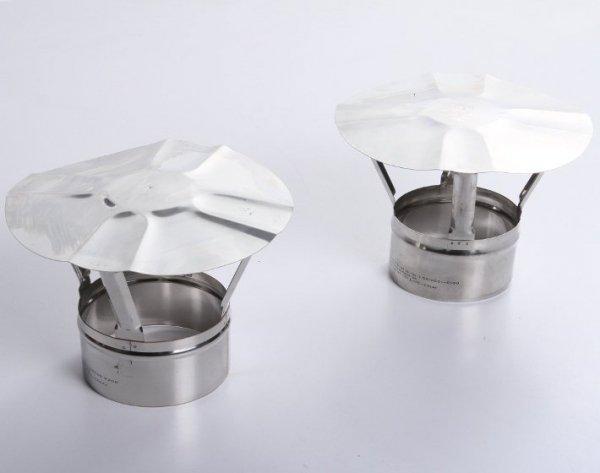Regenhaube Regenhut Einsteck für Ofenrohre Kamin Edelstahl 150