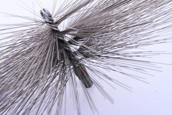 Schornsteinbesen Kaminbesen aus Stahl 22,5cm