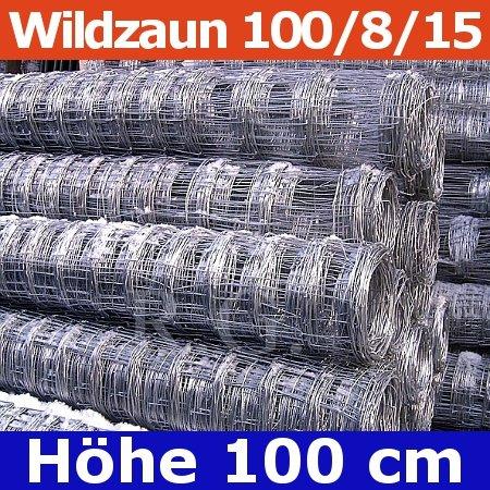 Wildzaun Forstzaun Weidezaun 100/8/15 50 Meter