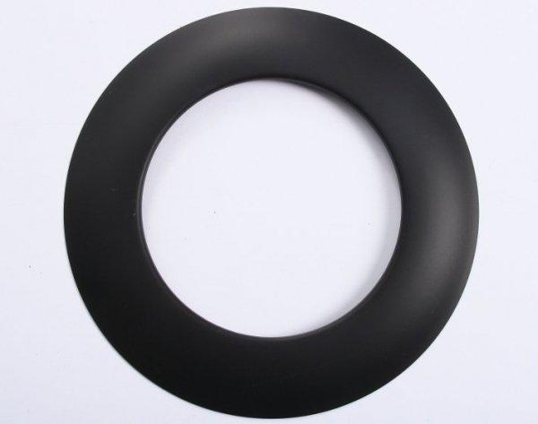 Rosette Wandrosette für Ofenrohre schwarz 150