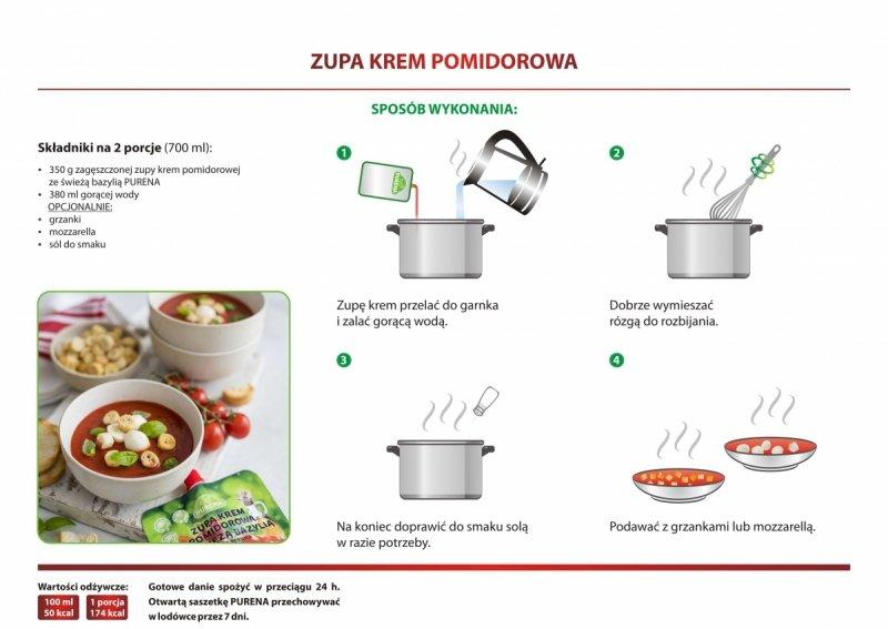Zupa krem pomidorowa zagęszczona 350g = 2 porcje