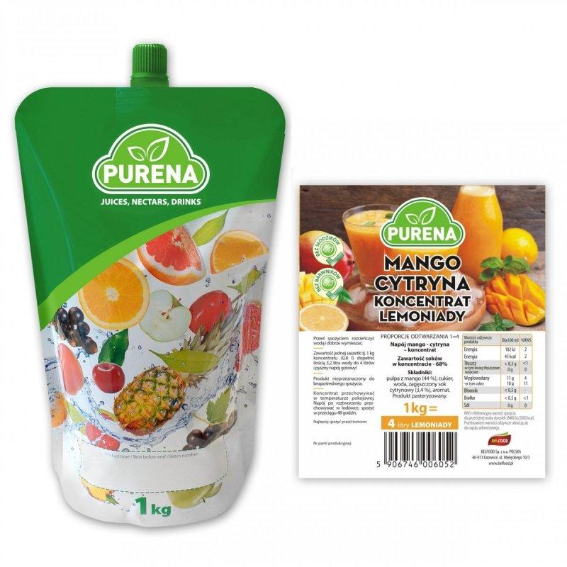 Lemoniada mango-cytryna koncentrat 5l/1kg