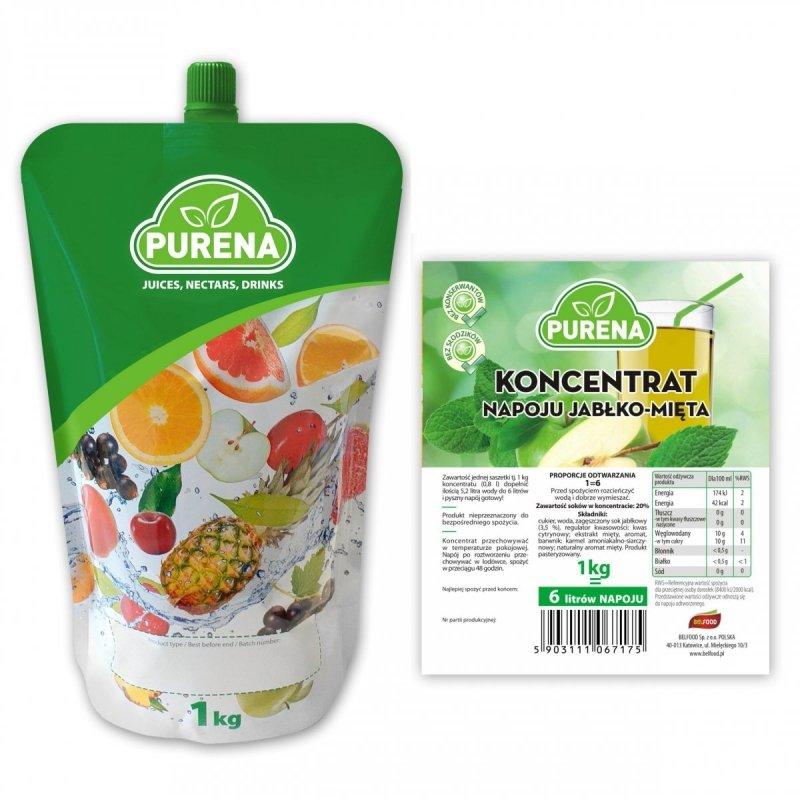 Napój jabłko-mięta koncentrat 6l/1kg
