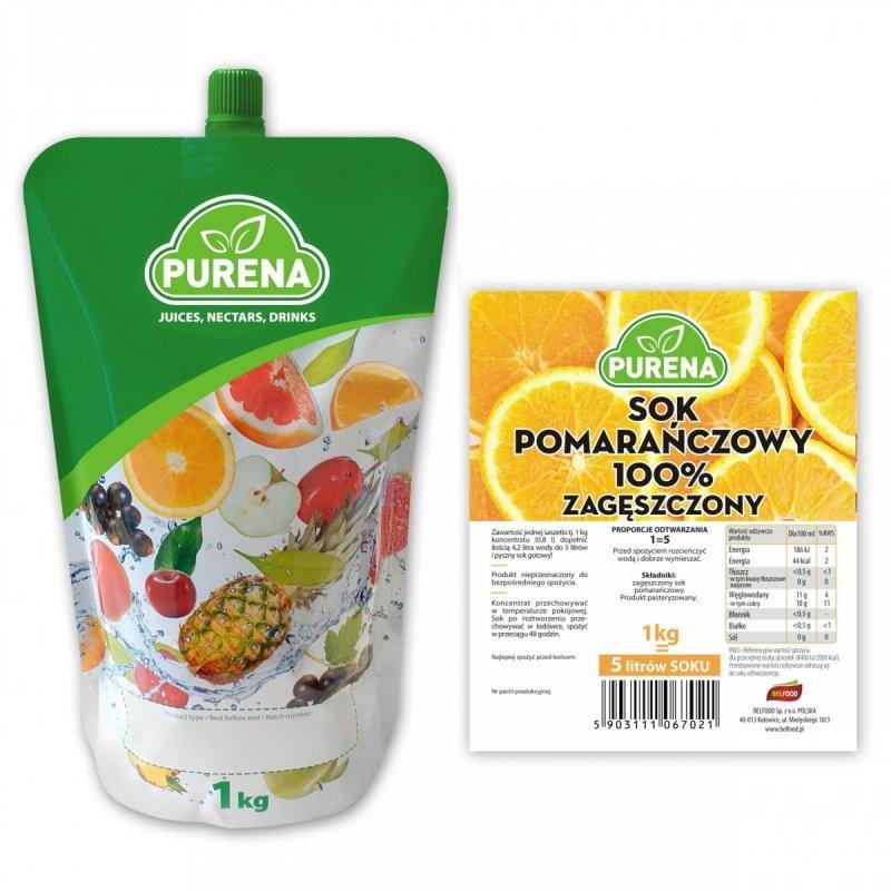 Sok pomarańczowy 100% zagęszczony 5l/1kg