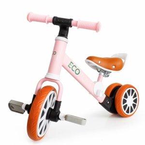Fahrrad, dreirädriges Laufrad mit Pedalen 2in1 Pink