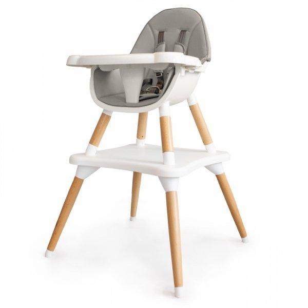 Hochstuhl Kinderessstuhl Essstuhl 2in1 grau Baby Babystuhl Kombihochstuhl Sicherheitsgurte Fußstütze