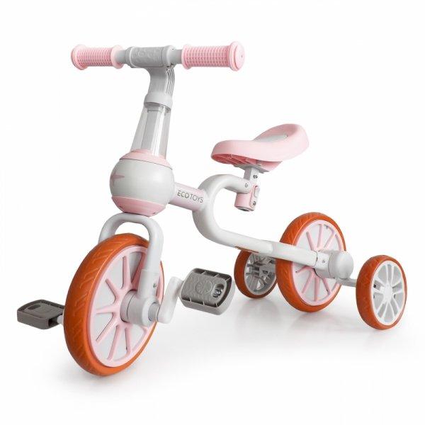 Bike Balance Bike 4in1 Pedale Seitenräder, pink